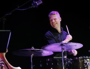 Johan Löfcrantz Ramsay och Mårten Lundgren har båda spelat i Telge big band, Musikskolans elevstorband. Foto: Mats Andersson