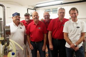 Från vänster: Sven-Eric Freijd, Robert Brook, Lars Hellström, Yngve Andersson, Lars Jonsson och Lars Bengtsson.