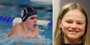 Hugo Swanson, tävlingens mesta medaljör med 5 guldmedaljer och ett silver. och Astrid Lönn, guldmedaljör i samtliga 5 grenar i klassen flickor 11 år.