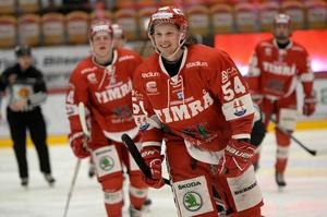 Jonathan Dahlén skickade in sitt 23:e mål för säsongen när han gjorde 1–0 mot BIK Karlskoga. Nu är Timrå IK klara för den allsvenska finalserien.
