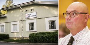 Mats Gärd (C), regionstyrelsens tillförordnade ordförande, samt Nya Närvårdens lokaler i Hoting. Bildmontage: Magnus Jarefors/Ingmar Reslegård