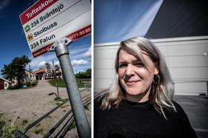 Malin Danielsson pustar ut efter Falu kommuns besked att låta Toftaskolan vara öppen.