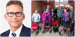 """Krister Karlsson träffar de upprörda hyresgästerna på måndag. """"Vi vill hitta en lösning. Dialogen med de boende är jätteviktig"""", säger Samhällsbyggnadsbolagets vice vd."""