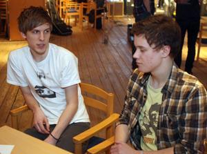 Festivalarrangörerna Nils Jonsson och Wille Åker.