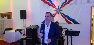 Aram Keryakos sjöng även han under firandet i fredags.