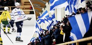 Det var härlig stämning i Rättvik Arena när Alfred Rustas kom hem.