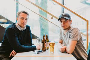 Hannes Larsson och Börje Bergström på Plura i Västerås Konserthus. Bild: Martin Bohm