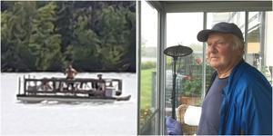 Tjuvar stal Bertils flotte. Bilden på tjuven togs av en sommarstugeägare längs Mälaren som känner Bertil Israelsson.