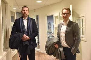 Anders Jansson, produktutvecklingschef, och Johan Hansson, vd Pressmaster, ser fram emot att starta verksamhet även i Mora.