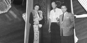 Fröken Florence Stephens tillsammans med prins Carl och Berl Gutenberg.  Bild: Minnenas Journal.