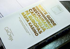 Casiopeija har flera gånger rekommenderats i den prestigefyllda listan White guide.