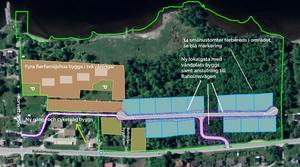 Så här ser kommunens plan ut för det nya området Beteshagen i Ankarsvik. Bild: Sundsvalls kommun