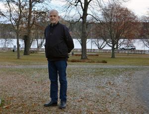 Håkan Persson har också besökt sjuksköterskeutbildningen i Gävle för att berätta om sin sjukdom.