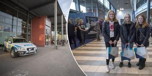 Polisen fick att göra under gymnasiemässan. Inne i arenans entré hittade Alma Gustafsson, Vendela Brolin och Mathilda Ekfeldt intressant information om det kommande gymnasievalet.