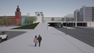 Behövs ett torg över spåren när nya stationen byggs?     Illustration: Markus Andersson