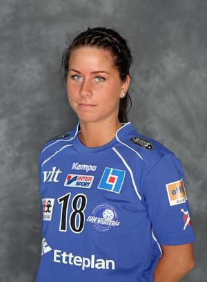 En då 20-årig Elin Lindén kom till dåvarande IVH Västerås från IFK Arboga 2008. Arkivbild