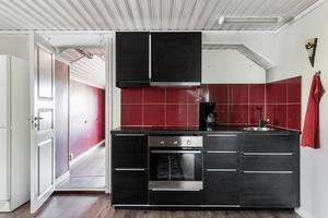 Den andra lägenhets kök. Foto: Svensk Fastighetsförmedling Arboga