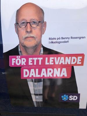 SD Dalarna satsar på att försöka kryssa in länsordförande Benny Rosengren i riksdagen. Foto: Sverigedemokraterna.