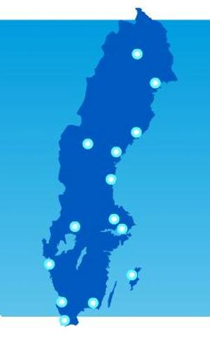 Flera flygplatser har hamnat för långt söderut.