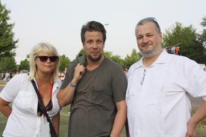 2010. Ida Eriksson, Filip Hammar och Per Bjurman besökte festivalen då Jay-Z och Kent uppträdde. Foto: Elin Rantakokko
