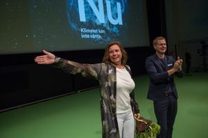 Språkrören Isabella Lövin och Gustav Fridolin kan inte vänta på en uppgång för MiljöpartietFoto: Peter Krüger, TT