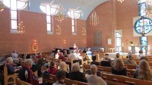 Lunchkonsert i vackra  i Sankt Eskils kyrka i Handen. Foto: Max Möllerfält