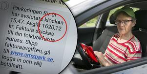 Fotomontage: Mikael Hellsten. En räkning på 1620 kronor blev resultatet av Birgittas misstag i mobilen.