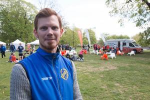 Henrik Astfors, tävlingsledare för Mälarenergi stadslopp.