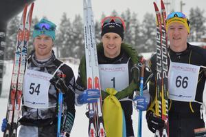 Fredrik Byström vann Moraloppet före Ludwig Tärning och Andreas Svensson.Foto: Privat