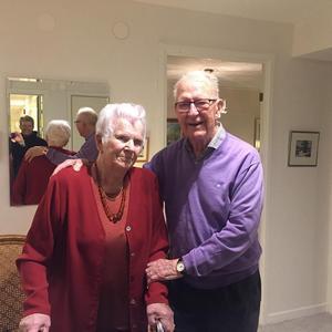 Helge och Maud. Bild från 90-årsdagen förra året