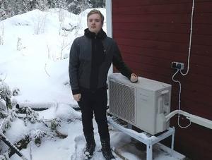 Foto: Privat. Emil Elmqvist fick sin fullt fungerande luftvärmepump förstörd vid installationen av en ny.