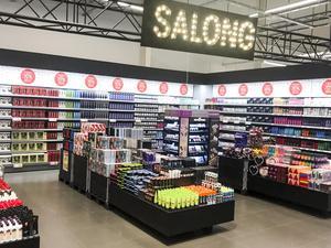 En salong med kropps- och skönhetsprodukter ska byggas i butiken. Den här bilden kommer från en annan butik. Foto: Johan Tallberg