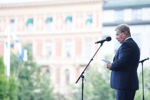 President Sauli Niinistö väntas väljas om för en ny sexårsperiod.Henrik Montgomery/TT