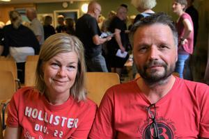 Susanne Holmgren och Gunne Engberg från Nordanå hoppades få klarhet i en del frågar vad gällde vatten, buller och byggstart.