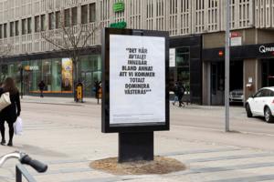 En del av affischkampanjen i Västerås i våras. Foto: Västerås konstmuseum