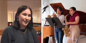 Kommunens sommarjobbare får för andra året i rad chansen att arbeta som musiker. I tisdags höll de i allsång på Rosengårdens äldreboende.