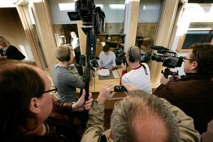 Falu tingsrätt dömer Anders Eklund till livstids fängelse. Här delas domen ut vid tingsrätten.Foto: Ulf Palm/ SCANPIX