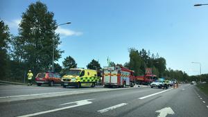 Trafikolycka väg 225 Nynäsvägen, Morabergsvägen.