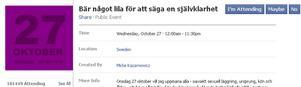 Över 100 000 svenskar har anmält att de bär lila i dag för att stödja HBT-världen.