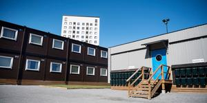 I Fagersjö i Stockholm finns modulhus för nyanlända. Nu står det klart att sådana inte kommer att sättas upp i Nynäshamn och Ösmo.