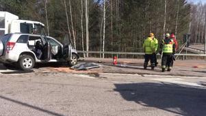 Trafikolyckan inträffade på riksväg 68 i Avesta, i närheten av älvbron, intill påfarten från trafikplats Döda Fallen.