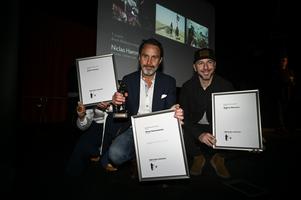 Expressens Niclas Hammarström och Aftonbladets Magnus Wennman fick pris förra året och är nominerade på nytt. Arkivbild.Foto: Pontus Lundahl/TT