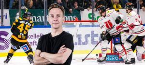 Noll komma två sekunder kvar, då får Oscar Möller tomt mål. Omöjligt att inte lida med Örebro Hockey efter den käftsmällen, skriver Sportens krönikör Lasse Wirström. Bild: Ola Westerberg/Bildbyrån