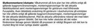 I besiktningspapperen går det att läsa att flera arbeten inte utförts enligt gällande regler.