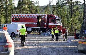 Micke Andersson var på dop när det började brinna för tredje gången och blev istället leverantör av mat på söndagskvällen.