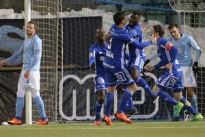 Maic Sema kvitterade till 2–2 för GIF Sundsvall mot Malmö FF på fredagskvällen. Foto: Erik Mårtensson / TT