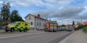 Tre bilar kolliderade på onsdag eftermiddag i Hudiksvall.