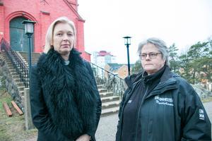 Kyrkan och kommunen finns där när det svåra händer, berättar Veronica Lindgren och Lena Rydås.