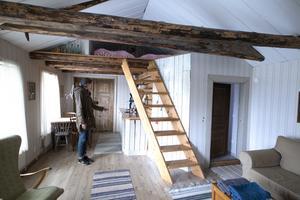 Utöver rummen på Major Toms gränd hyr man också ut två rum i den del av huset som byggdes på 1600-talet. Här får man sova på gamla höloftet i Snickerboa.