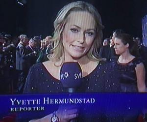"""Yvette Hermundstad syns ofta på SVT, här under """"Idrottsgalan."""""""